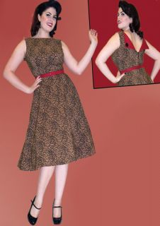 Bettie Page 50er vintage retro Leoparden Tatjana Rockabilly Leo Swing