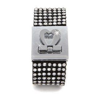 Original Sekka Luxus Glitzer Armband mit 238 Glitzersteinen   Schwarz