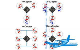 lIl Quadkopter TriCopter KK Multikopter controller board