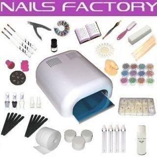 UV Gel XXXL Set, 4 Röhren Gerät, Nails, Nagelstudio W#Z