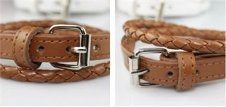 AG4086 New Fashion Jewelry Ladys Leather Like Double Wrap Belt