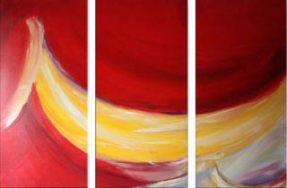 SABINE SCHRAMM Abstrakt rot Bild Acryl Leinwand 120x80