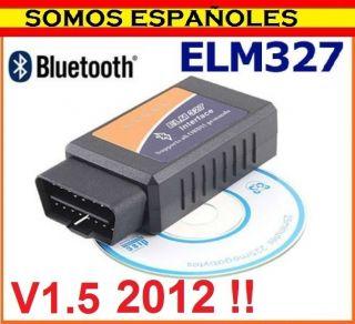 DIAGNOSIS ELM327 V1.5 2012 OBD2 MULTIMARCA OBDII COCHE BLUETOOTH