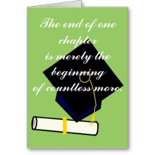 The End of One Chapter Graduation Card