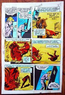 BATMAN #327   ORIGINAL ART, from 1980   Hand Painted DC Comic Art