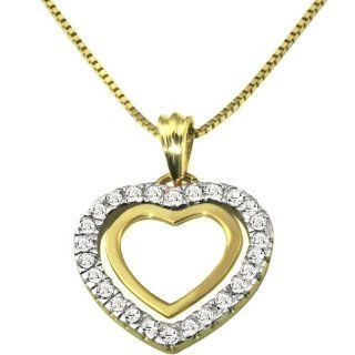 Goldmaid Damen Collier Herz 585 Gelbgold 26 Diamanten 0,25ct He