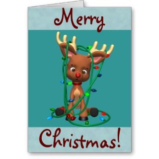 Christmas Rudolph the Red Nosed Reindeer Greeting Card