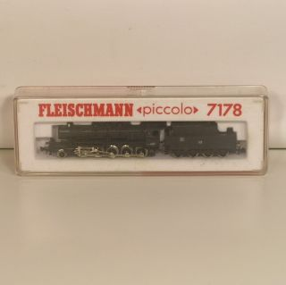 4e39  Fleischmann 7178 Dampflok BR 50 mit Verpackung.