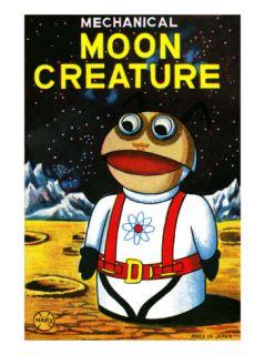 Mechanical Moon Creature Poster
