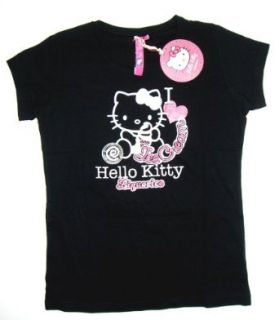 Hello Kitty Designer T Shirt Italian Icecream   schwarz