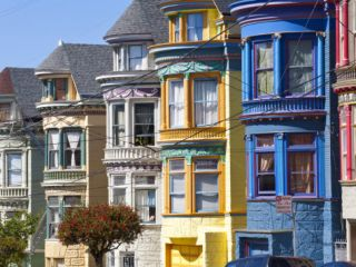 Colourfully Painted Victorian Houses in the Haight Ashbury District of San Francisco, California, U Photographic Print by Gavin Hellier