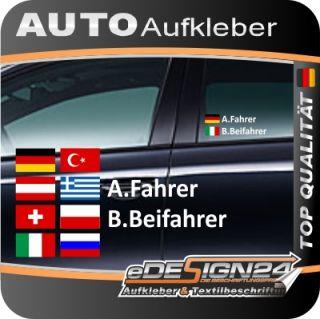 E335 Aufkleber Fahrername Name Flagge Fahne Autoaufkleber Auto Sticker