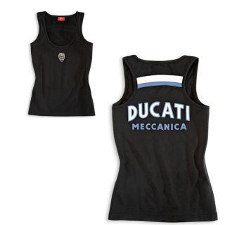DUCATI MECCANICA ´11 Damen ärmelloses Top Tanktop LADY schwarz NEU