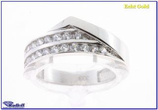 Zirkonia Damen Ring echt Gold massiv 333 8kt. Weissgold BE10706830