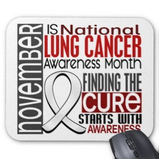Lung Cancer Awareness Month Pearl Ribbon I2.5 Mouse Pads