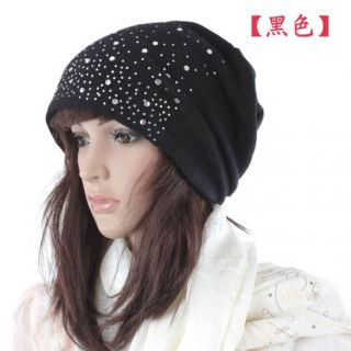EGF05 Korea Fashion Girls Cute Shining Winter Warm Knitting Skull Ski