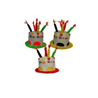 Geburtstags Hut Happy Birthday mit Kerzen in rot [Spielzeug]