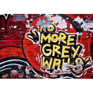 Fototapete No More Grey Walls, 366x254cm, Graffiti, Streetart, Kunst