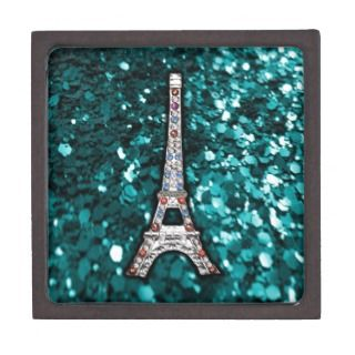 Eiffel Tower Paris view France Jewel Silver Premium Jewelry Box