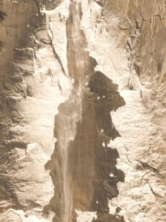 Ice Forms around Upper Yosemie Fall in Winer Phoographic Prin by Phil Schermeiser