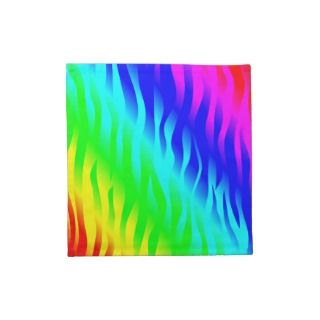 Psychadelic flaming rainbow colors printed napkin