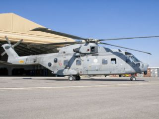 An Italian Navy EH101 Helicopter at Forward Operating Base Herat, Afghanistan Photographic Print by Stocktrek Images