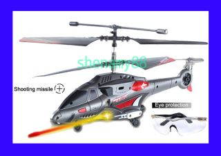 3CH 343 Missile Launching Gyro RC USB Mini Helicopter Free Nice Eye