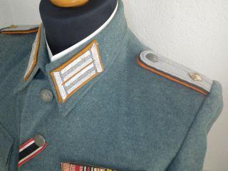 Polizei Jacke mit Feldspange Uniform Top Erhalten Wehrmacht XX 2WK WW2