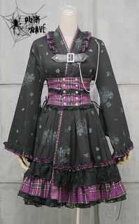 VISUAL KEI PUNK Gothic KERA Lolita Kimono Dress NANA BP