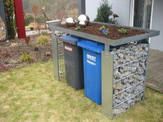 Mülltonnenbox Müllbox Mülltonnengabione 2x240 l P Gabio