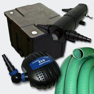 Filter Set Bio Teichfilter 12000l+SuperEco Pumpe+24W UVC Wasserklärer