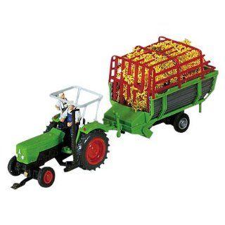 Faller 161535   Deutz Traktor mit Heuwagen, Preiser/ Wiking