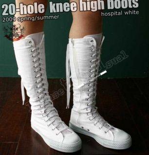 Gothic Punk Stiefel Kniehoch TURNSCHUHE Sneaker Boot