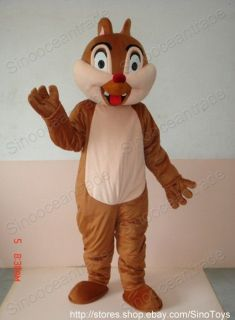 Chip AND Dale Chipmunk SQUIRREL 2 ADULT MASCOT COSTUMES