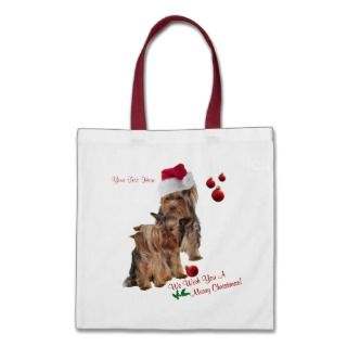 cute cute cute yorkie puppy merry christmas wishes and red christmas