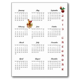 2013 Vintage Christmas Wishes Postcard Calendar #1