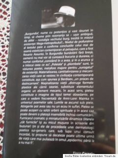 BURGUNDIA auor Anni Lorei MAINKA Poezie/2010