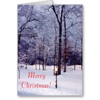 Winter Scene Christmas Card