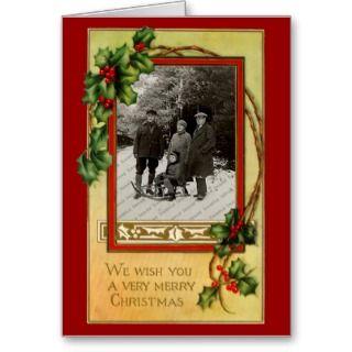 Vintage Classic Christmas Card