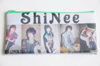 SHINEE Korean Band Zip Pen Pencil Case Bag Pouch P5
