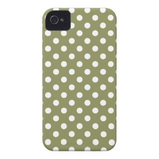 Cedar Green Polka Dot Iphone 4/4S Case iPhone 4 Case