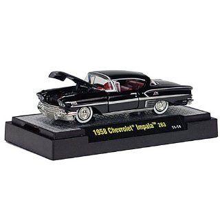 Chevrolet Impala 283, schwarz, 1958, Modellauto, Fertigmodell, M2