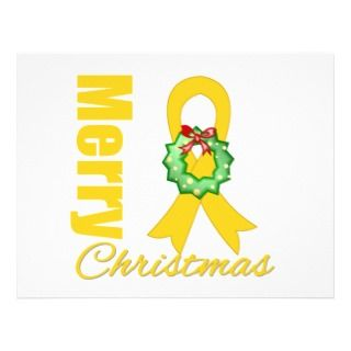 Childhood Cancer Awareness Merry Christmas Ribbon Full Color Flyer