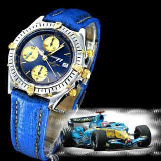 BREITLING Uhr Chronomat F1 Formel 1 Renault Stahl Gold Alain Prost