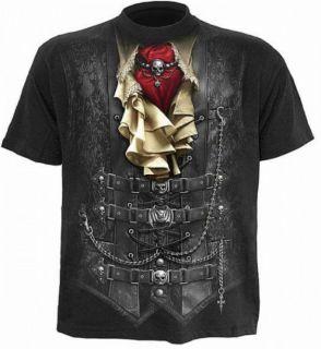 Gothic Metal Biker Steampunk Vampir Pirat Tshirt Shirt Hemd schwarz Gr