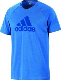 Adidas ESS Logo TEE Shirt T Shirt Clima 365 signalblu