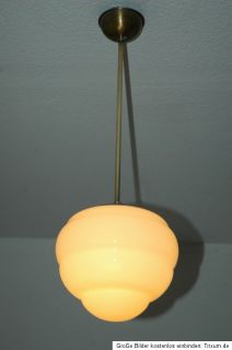 Seltene Original Art Deco Lampe Deckenlampe Pate De Verre Glasschirm