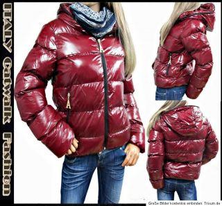 Coole Damen Winter Jacke 34 36 38 40 Steppjacke Übergangsjacke Lack