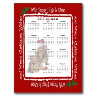 2013 Yorkie Puppy Hugs Christmas Calendar postcards by 4westies