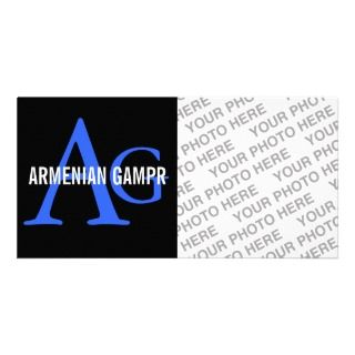 Armenian Gampr Breed Monogram Photo Greeting Card